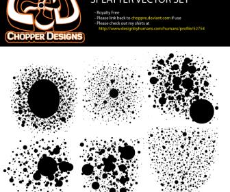 Splatter Vector Set