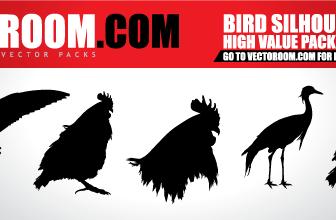 5 Vector Birds Silhouette