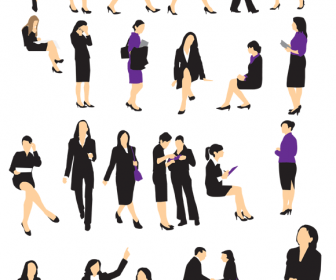 25 Business Woman Silhouette