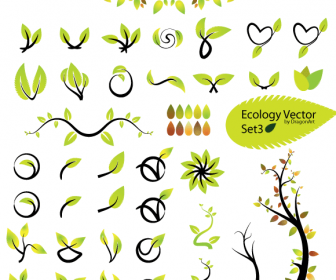 Ecology Leaves Vector Icon