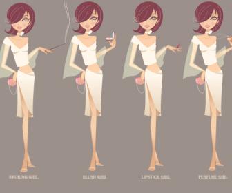 Beauty Girl Modern Style