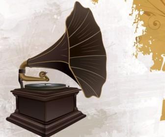 Retro Phonograph Vector