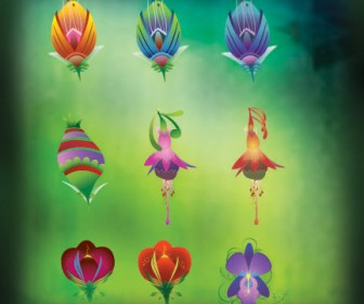 Flower Icons Vector Pack