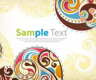 Floral Card Vector Art Background