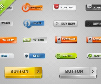 18 Download Buttons Vector