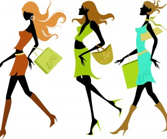 Shopping Girl Vector Art