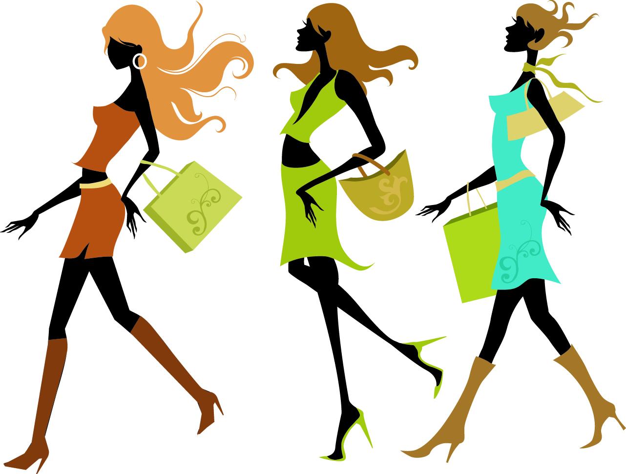 Fashion girl clip art 6