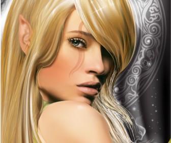Fairy Girl Vector Art