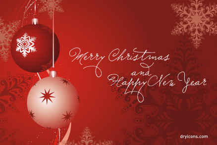 Merry Christmas Happy New Year Vector - Download Free Vector