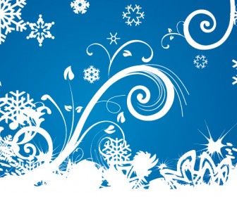Winter Swirls Vector Background
