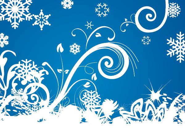 Winter Swirls Vector Background Download Free Vector