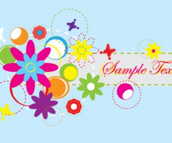 Abstract Flower Banner Vector