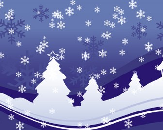 White Christmas Vector Art