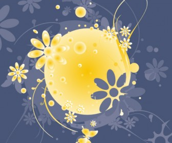Floral Sphere Vector Art