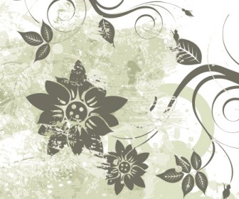 Grunge Flower Vector Art