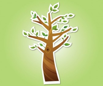 Abstract Tree Icon Vector Graphics