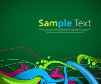 Abstract Wave Background Template