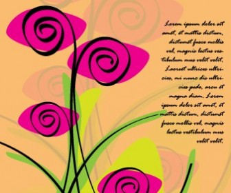 Roses Love Card Vector Art