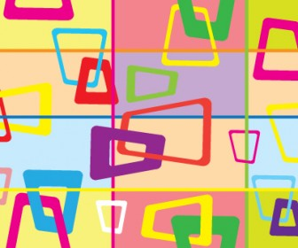 Rectangle Colorful Vector Wallpaper