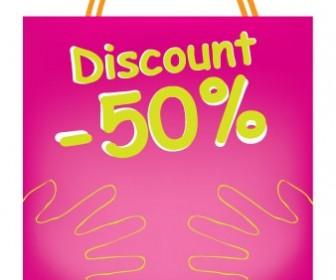 Purple Bag Discount Vector