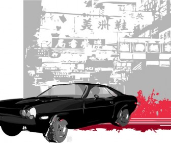 Car in Chinatown Vector