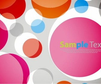 Abstract Colorful Bubble Vector