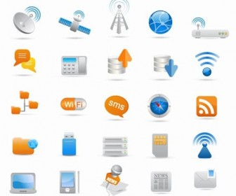 25 Wireless Communication Icon Vector