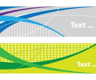 Two Sided Abstract Banner Vector