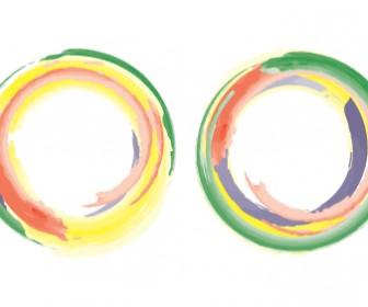 Rainbow Vector Circles Templates