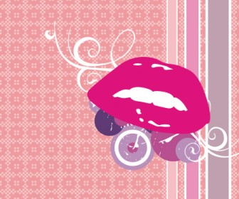 Lips Vector Art Background