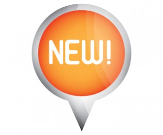 New Button Vector with Plastic Effect