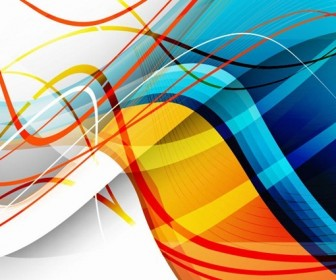 Abstract Wave Background Art
