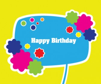 Happy Birthday Card Vector For Kids