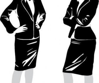 Manga Female Silhouette Vector