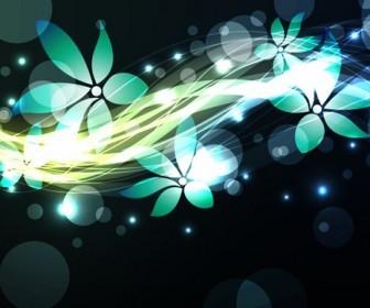 Dark Abstract Flower Vector Background