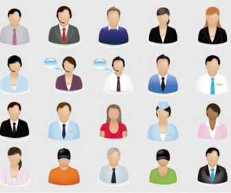 20 Business People Vector Icon Set