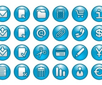Blue Web Buttons Icon Pack