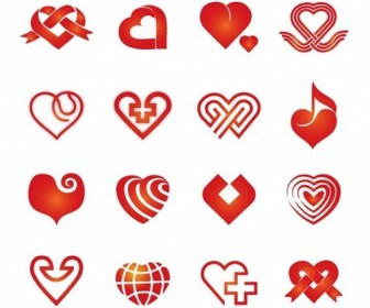 16 Vector Heart Icons Pack