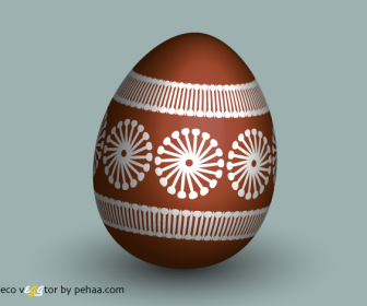 Eco Easter Egg Vector Art