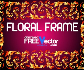 Floral Frame Vector Graphic Art
