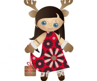 Miss Santa Claus Vector Art