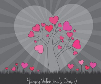 Valentine Vector Card Illustration