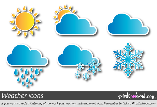 Freebies weather icons vector graphic