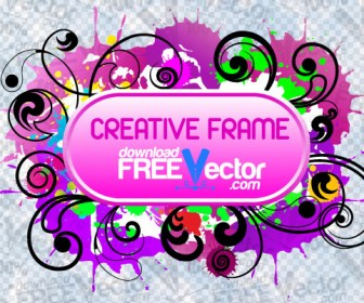 Creative Frame Vector Graphic