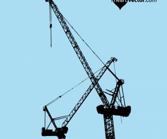 Crane Silhouette Vector Graphic