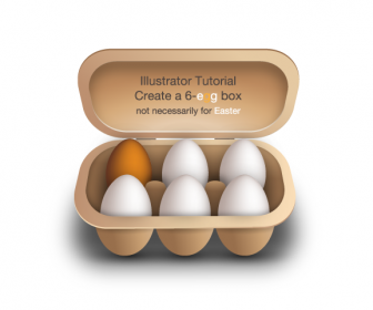 Eggs Vector Graphic with the Box