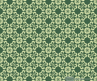 Green Floral Ornament Patterns Vector