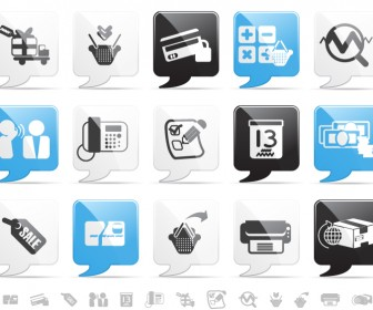 Shopping Message Icon Graphics