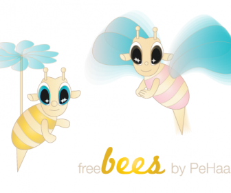 Bee Vector Characters Freebies