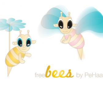 Bee Vector Characters Freebies
